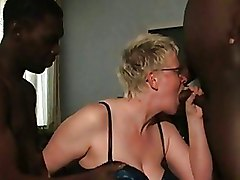 Blowjob Gang Bang Interracial Mature Mature White Housewife Two Black Guys interracial blowjob mature blowjob