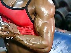 Ebony Muscle Women Public nudity