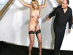 BDSM Bondage Dungeon excercise Pussy Torture bdsm slave castle cellar dark dungeon extreme bdsm videos pain and humiliation private pussy pain soldier special excercises whipped and tormented