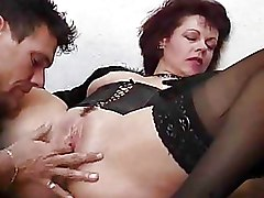 Fingering Moms and Boys Stockings