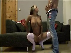 Sexy Cora Gets Undressed, Does Handjob To Herself And Performs A Blowjob