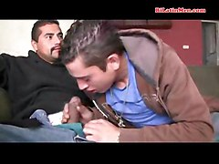 see this two straight latin guys suck each others big uncut cock and then fuck bare more of gay mexican porn on