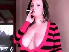 amateur homemade tits smoking fetish stripping bbw girlfriend outdoors brunette