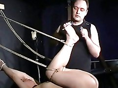 BDSM Bondage Waxing asian bdsm bastinado dungeon extreme feet foot pussy pain