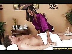 Massage Small Tits Teen blowjob cumshot deepthroat facial handjob oil skinny
