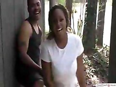 Ghetto Bitch Gets Dared To Fuck In Public