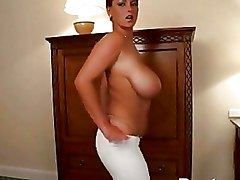Mega Big Tits Milf Striptease