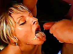 Blondes Facials cumshot