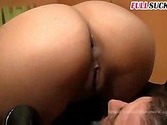 maid blowjob brunette tattoo shaved pussyfucking hardcore cumshot