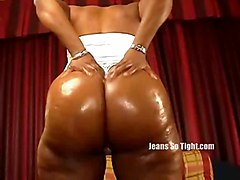 black oiled ebony solo blackwoman teasing bigass softcore