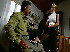 Blonde Blonde Blowjob Caucasian Couple Cum Shot Office Oral Sex Shaved Vaginal Sex Tiffany Rousso