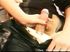 stockings cumshot hardcore blonde blowjob threesome pussyfucking