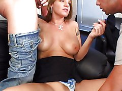 Anal Group MILF Double Penetration Anal Sex Blowjob Brunette Caucasian Cum Shot Deepthroat Double Penetration MILF Oral Sex Piercings Pornstar Tattoos Threesome Vaginal Sex Kayla Quinn