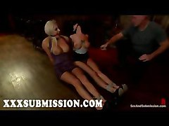 submission bdsm bondage bound tie fetish gagging slave group orgy gangbang whip lash spank busty big tits boobs hooters breasts