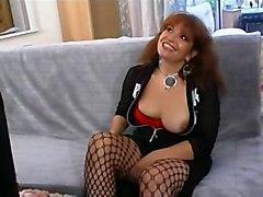 anal mature redhead fishnet