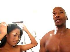 Ebony Big Cock Black-haired Blowjob Couple Cum Shot Ebony Licking Vagina Oral Sex Vaginal Sex