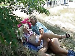 Hardcore Outdoor Teen blonde exhibitionism fucking outside public sex