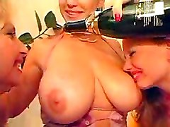 Lesbian Party Riding Strapon