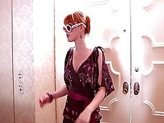 Redhead Bathroom Blowjob Caucasian Couple Cum Shot Muscular Oral Sex Redhead Vaginal Sex Marie McCray