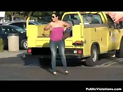 hot tits gets bared parking