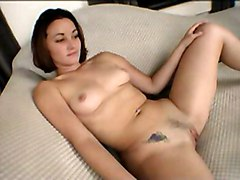 Brunette Caucasian Couple Masturbation Piercings Tattoos Vaginal Masturbation