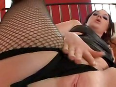 cumshot interracial oiled blowjob fingering fishnets cocksucking bigass pussyfucking