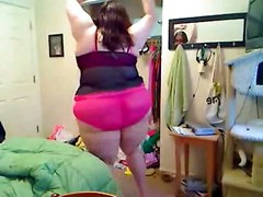 amateur homemade bbw large ladies fat chubby dancing solo brunette lingerie glasses big ass