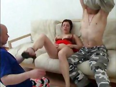 Mom Has Anal Sex With Her Son And His Friend