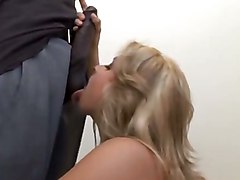 Interracial Blonde Sarah VandellaInterracial Blonde Facial