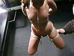 BDSM Bondage Japanese Teen Koko li Suspension bondage asian bdsm asian bondage bizarre bdsm hanging Over Fire pain