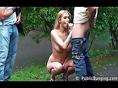Public Group Blonde Blonde Blowjob Caucasian Cum Shot Oral Sex Public Threesome Vaginal Sex