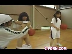 jap schoolgirl basketball practice teenager orgasm