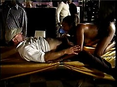 Amateur Black and Ebony Gangbang