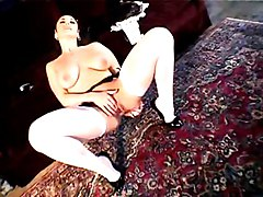 Big Tits Fetish Masturbation Big Tits Black-haired Caucasian Domination Maid Masturbation Solo Girl Stockings Vaginal Masturbation Jewell Marceau