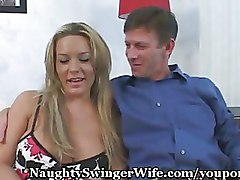 Swing Threesome blonde wife