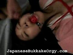 Asian Cumshot Fetish Asian Black-haired Bondage Couple Cum Shot Domination