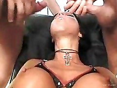 Horny Gang Bang Slut Gets Double Penetrated