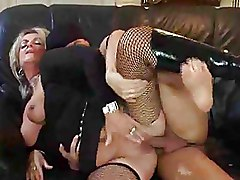 Fishnet Granny blonde older