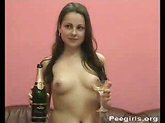 Vera Drinks Pee Champagne GlassTeens 18  Amateur Other Fetish Piss