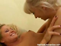 Amazing Her First Lesbian Sex