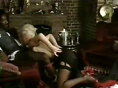 Blondes Interracial Stockings