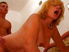 Bedroom Moms and Boys blonde lingerie
