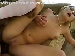 black hardcore blonde socks in a high taking large knee prick