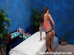 18 eighteen spy cam escort surprise client massage table room teen work camera rubdown erotic