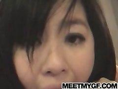 Asian Hot Teen Sucks Huge Cock