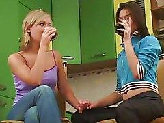 Kitchen Lesbian Pussy Licking