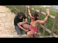 public disgrace bondage bdsm bondage bound outdoor voyeur