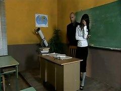 teacher sex blowjob tits cumshot pussy
