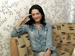 Anal Masturbation Anal Masturbation Black-haired Caucasian Russian Solo Girl Vaginal Masturbation