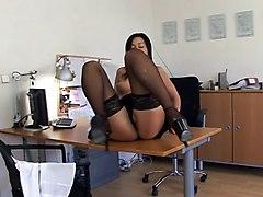 Black Nylon Secretary Sex (thenylonlover)